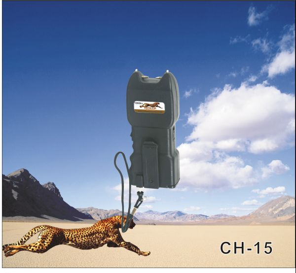 1 million volts cheetah stun gun with safety pin & Alarm