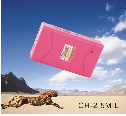 pink 2.5 million volts stun gun